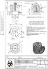 Клапан предохранительный  VADF-200/2 N  50 кПа защищенного исполнения, фторсиликоновые прокладки, спец. фланец